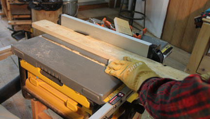 rollers to support the board both in front of and behind the table saw in the path of the board. For the long boards typically used for a strip boat you\u0027ll ... & Hand Beveling wood strips for wood kayak canoe tablesaw set-up safety