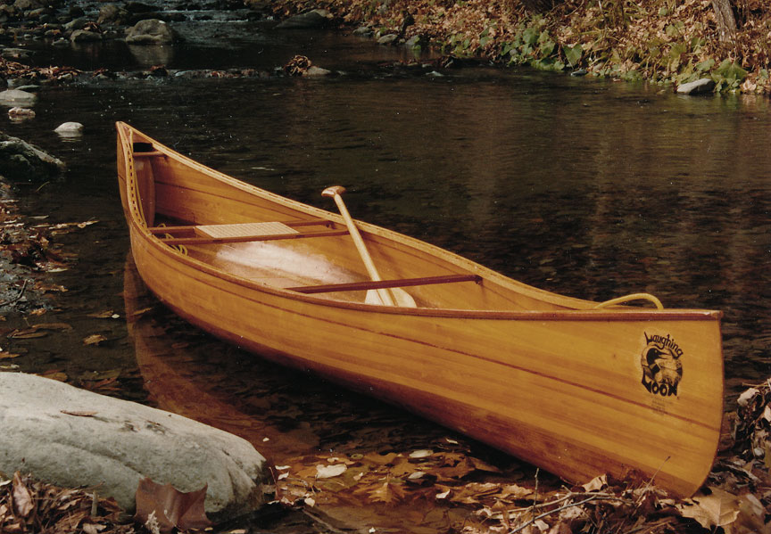 Solo Portage Wood Strip Canoe